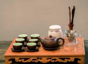 các dụng cụ cần chuẩn bị trong cách pha trà thái nguyên của tôi